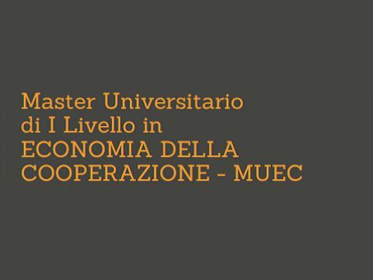 Parte il Master MUEC 2020-21